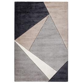 Tapis géométrique pour salon taupe moderne Viki
