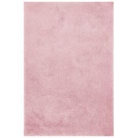 Tapis tufté main doux en polyester rose Nevio