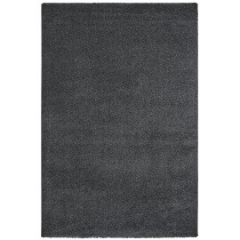 Tapis uni rectangle intérieur anthracite Cubix