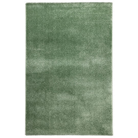 Tapis uni rectangle intérieur vert Cubix