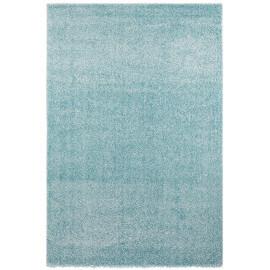 Tapis uni rectangle intérieur bleu océan Cubix