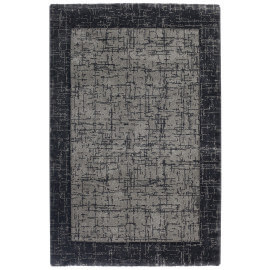 Tapis à courtes mèches contemporain anthracite Douala