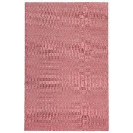 Tapis scandinave en laine géométrique à poils court rouge Mandoor