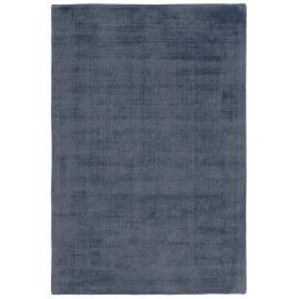 Tapis effet vintage bleu jeans en viscose tissé main Kruger