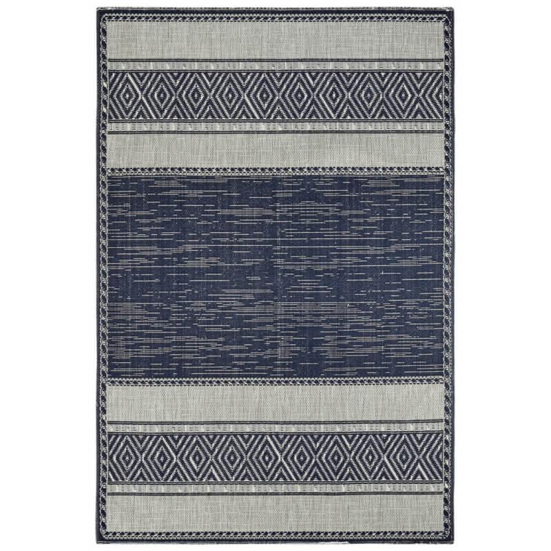 tapis r versible bleu marine plat moderne euphorise. Black Bedroom Furniture Sets. Home Design Ideas