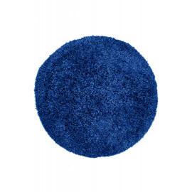 Tapis rond en polyester doux shaggy bleu azur Wow