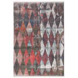 Tapis scandinave multicolore tissé polyester Rubico