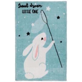 Tapis pour enfant multicolore en polyester doux Bunny