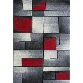Tapis design rouge rectangle Balea