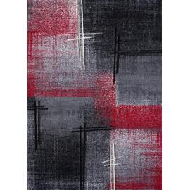 Tapis rouge en polypropylène moderne Coldy