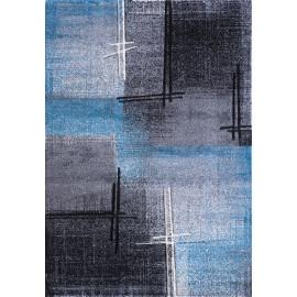 Tapis bleu en polypropylène moderne Coldy