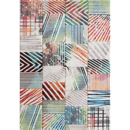 Tapis de salon multicolore tendance Hugo