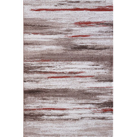 Tapis beige rayé moderne rectangle Hypnose