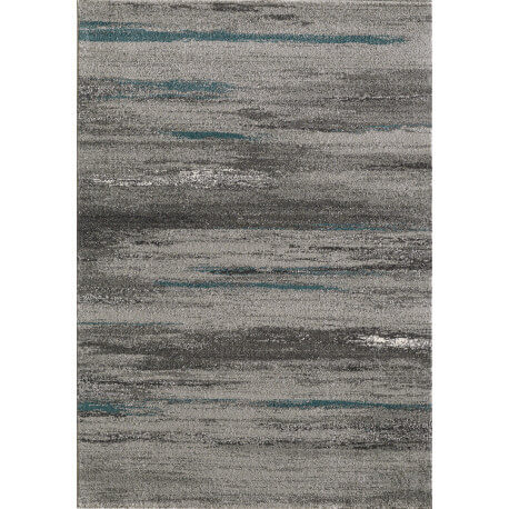 Tapis gris rayé moderne rectangle Hypnose