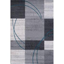 Tapis contemporain gris pour salon Nati