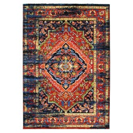Tapis multicolore vintage rectangle Rave
