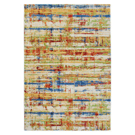 Tapis rectangle multicolore vintage Andria