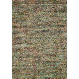 Tapis shaggy doux coloré avec dominance vert Preston