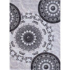 Tapis brillant gris baroque à courtes mèches Farshian