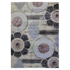 Tapis rose baroque pour salon rectangle Mégane