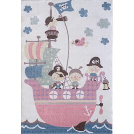 Tapis crème pour chambre enfant Boat
