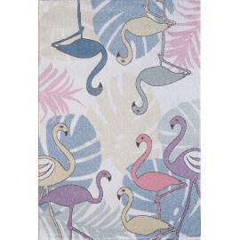 Tapis pour enfant crème rectangulaire Flaminga