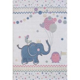 Tapis pour bébé rectangle crème Elefant