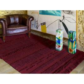 Tapis de salon lavable en machine rouge Air Lorena Canals
