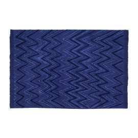 Tapis en coton rectangle bleu Earth Lorena Canals