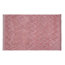 Tapis en coton rectangle rose Earth Lorena Canals
