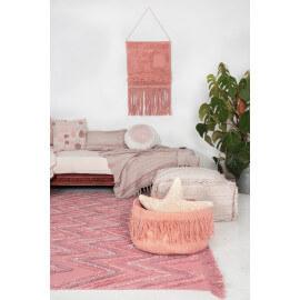 Tapis en coton rectangle rose Earth Lorena Canals
