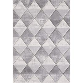 Tapis blanc scandinave à courtes mèches Fedro