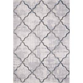 Tapis rayé géométrique blanc de salon Cozi