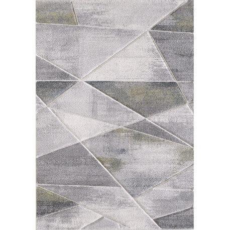 Tapis effet 3D gris pour salon Renzo