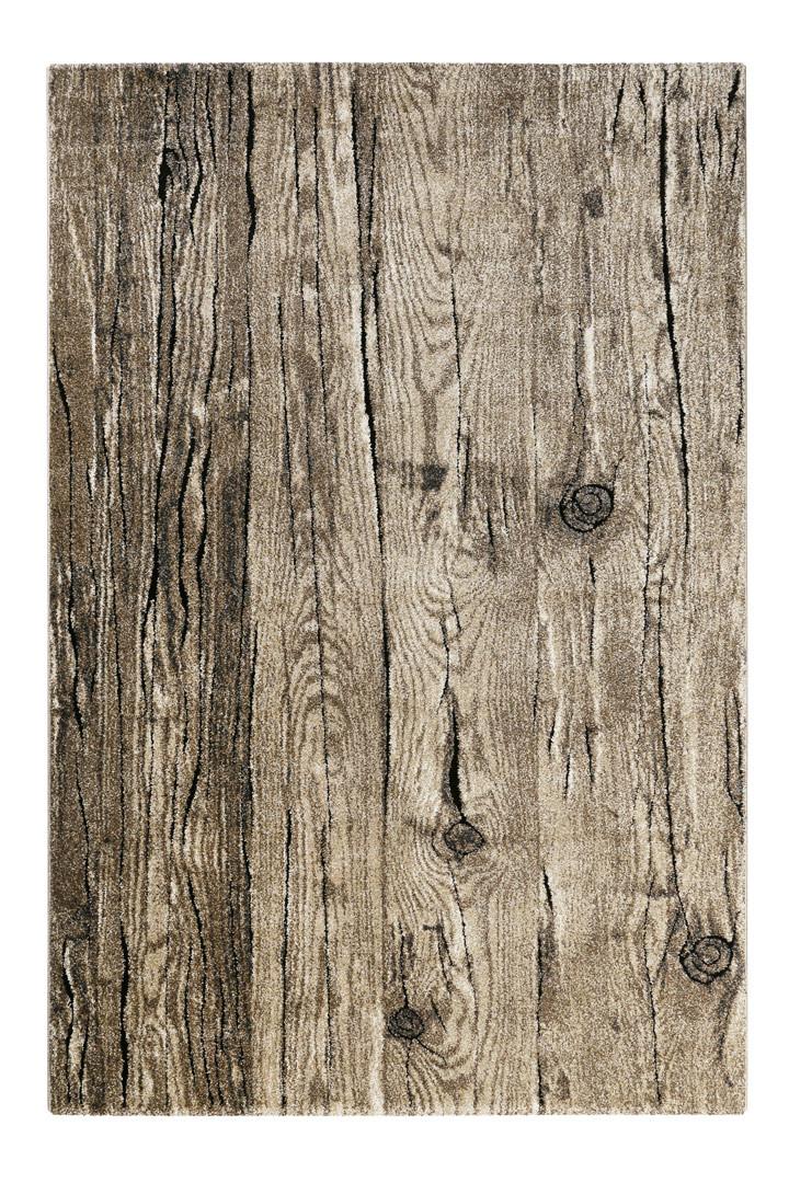 Tapis effet planche de bois brun Woody Wecon Home