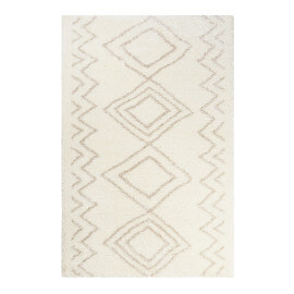 Tapis ethnique blanc pour salon Yagour Wecon Home