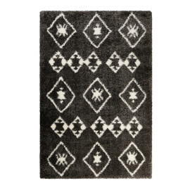 Tapis à longues mèches ethnique anthracite Ayachi Wecon Home