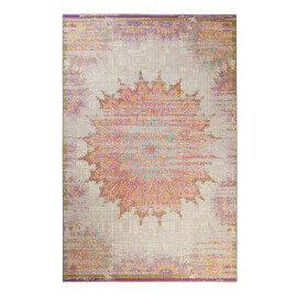 Tapis vintage beige pour salon Sunkissed Wecon Home