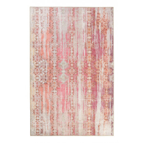 Tapis rose vintage de salon Sunset in Faro Wecon Home