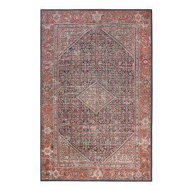 Tapis oriental rouge à courtes mèches Flashback Wecon Home