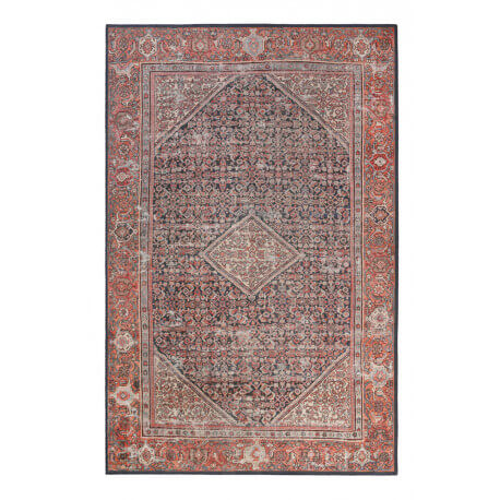 tapis oriental rouge courtes mches flashback wecon home - Tapis Oriental Rouge