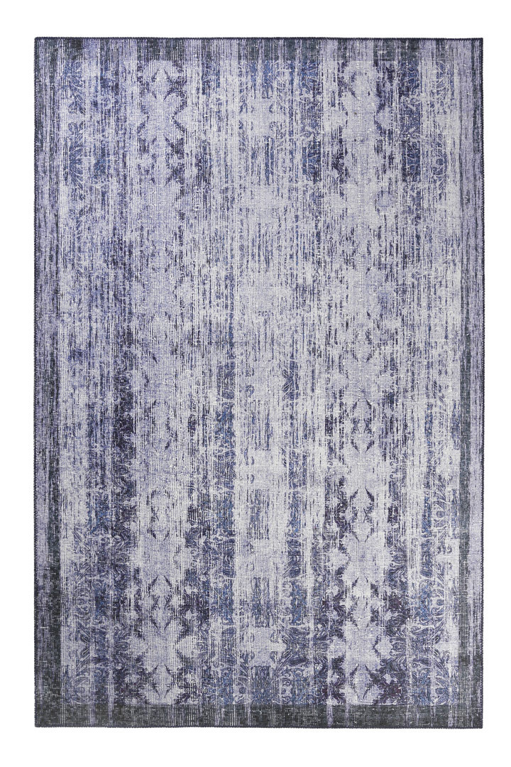 Tapis vintage bleu pour salon Poolside Wecon Home