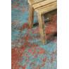 Tapis Wecon Home intérieur vintage bleu Hot Spring