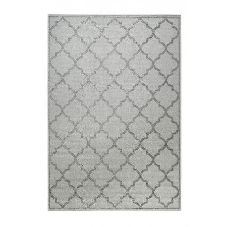 Tapis extérieur et intérieur plat argenté et gris Gleamy Outdoor Wecon Home