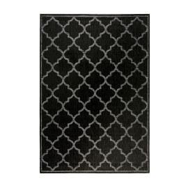 Tapis extérieur et intérieur plat anthracite et gris Gleamy Outdoor Wecon Home