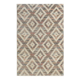 Tapis ethnique pour salon beige doux Passion 2.0 Wecon Home