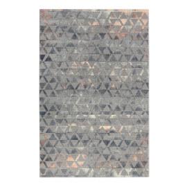 Tapis gris et bleu géométrique doux Pearl 2.0 Wecon Home