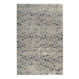 Tapis gris et turquoise géométrique doux Pearl 2.0 Wecon Home