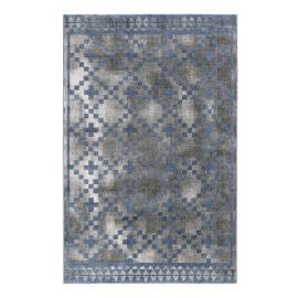 Tapis scandinave géométrique gris et bleu Pleasure 2.0 Wecon Home