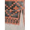 Tapis scandinave géométrique gris et orange Pleasure 2.0 Wecon Home